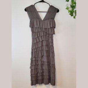 ANTHROPOLOGIE BAILEY 44 Grey Ruffled Dress SZ XS